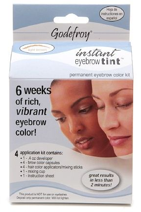 Godefroy Instant Eyebrow Tint Permanent Eyebrow Color Kit Light ...