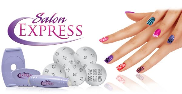 Buy Salon Express Nail Art Stamping Kit Ksa Souq