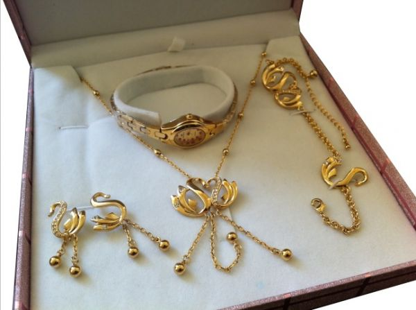 Souq All in one Designer 18k Gold plated jewelry full gift set