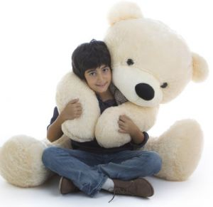 Giant Teddy Cozy Cuddles   55   Very Cute U0026 Cuddly Vanilla Cream Plush  Teddy Bear By Giant Teddy