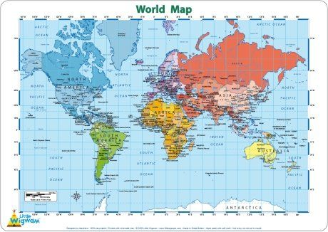 Little wigwam world map placemat price review and buy in kuwait this item is currently out of stock gumiabroncs Image collections