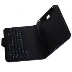 7f96c7ff079 Leather Case Cover With Bluetooth Keyboard For The Samsung Galaxy ...