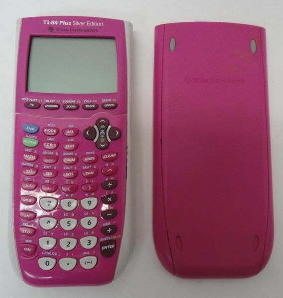 ALL PINK TEXAS INSTRUMENTS TI 84 PLUS SILVER GRAPHIC CALCULATOR GRAPHING
