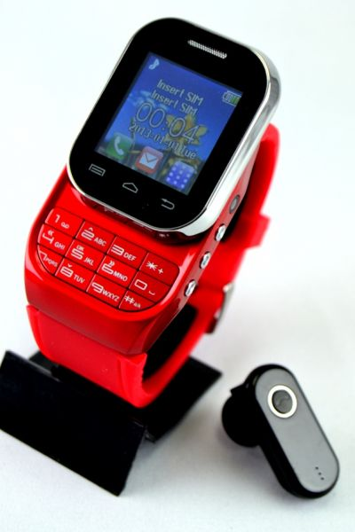 ef918d2767e W1-RED  Touch Screen Mobile Watch Phone with Bluetooth Headset ...