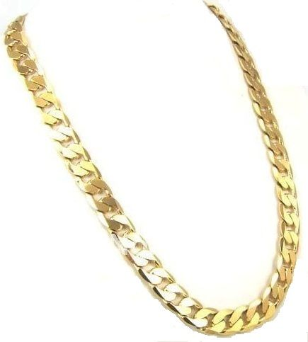 18k yellow gold plated men chain necklace price review and buy in this item is currently out of stock mozeypictures Image collections