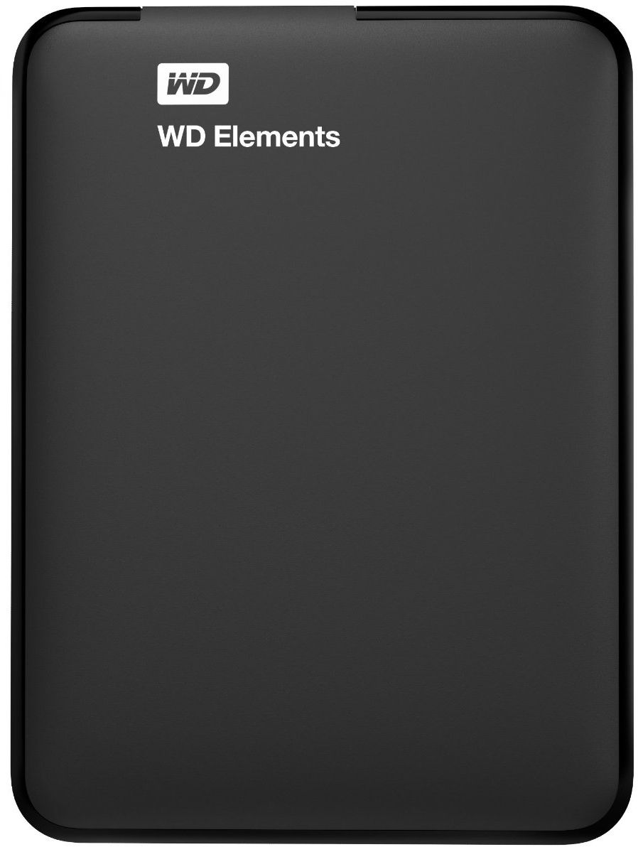 WD 1TB Elements Portable External Hard Drive USB 3.0 - Black, WDBUZG0010BBK