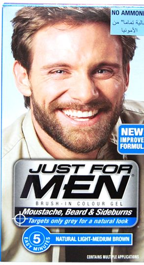 Just For Men Moustache, Beard & Sideburns Brush-in Color Gel ...