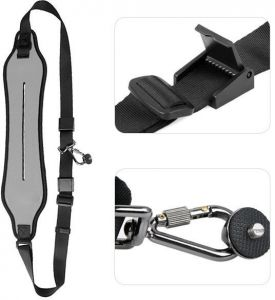 Quick Rapid Camera Single Shoulder Sling Grey Belt Strap for SLR DSLR