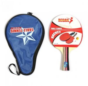 058299f212 Long Handle Shake-hand Table Tennis Racket Ping Pong Paddle Waterproof Bag  Pouch  H9781 Blue   black