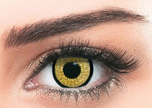 6e5da22ace70 Cosmetic Contact Lenses By Bella Enlarge   Highlight Gold