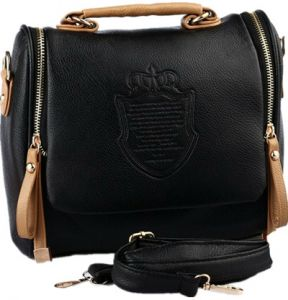 Women s Handbag Satchel Vintage Leather Crossbody Shoulder Bag Casual Clutch  Totes Messenger Evening Bag GH10025 Black b678ef0090