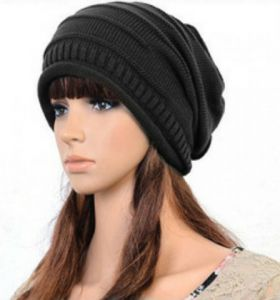 Designer Warm Skullies Women Men Unisex Winter Knitted Hat Crochet Plicate  Baggy Beanie Ski Hat Acrylic Slouchy Caps GH3126 Dark Grey 33c922a85fa7