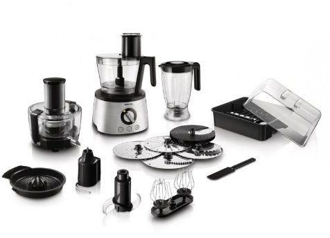 Philips Avance Collection Food processor 1300W, Compact 4 in 1 setup, 3.4 L bowl, One touch auto buttons - HR7778