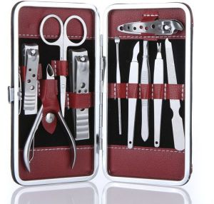 10 In 1 Manicure Pedicure Ear Pick Nail Clippers Set
