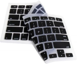 Unibody Apple MacBook / Pro / Air / Retina 13inch 15inch 17inch Silicone Keyboard Skin Cover - Black (US Layout)