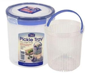 Lock & Lock HPL933BT round Tall Food Container 1.4Liter With Pickle Tray
