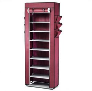 Shoe Cabinet 10 Tier Stand Rack Organizer With Cover