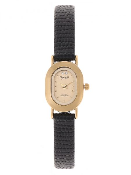 Omax Women's Gold Dial Leather Band Watch [BG0222QB01]
