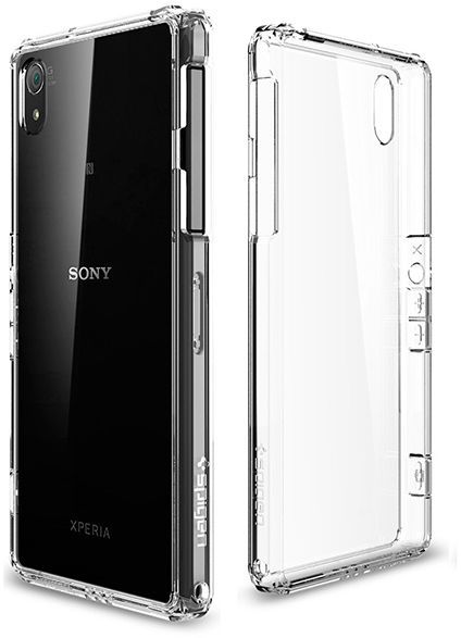 newest f54bb c4560 Sony Xperia Z2 Ultra Hybrid Case / Cover [ CRYSTAL SILICON Clear -  Transparent ]