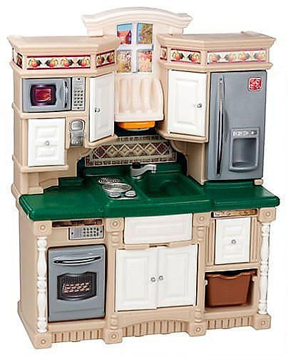 Step2 Lifestyle Dream Kitchen | Step2 Lifestyle Dream Kitchen Pretend Play Dress Up Toy Brown And