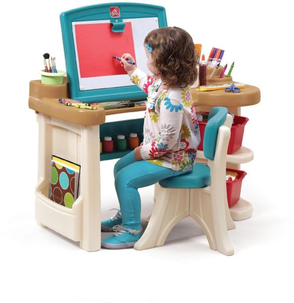 5624bacc3ef62 Step2 Studio Art Desk Outdoor Toy and Structures  Multicolor