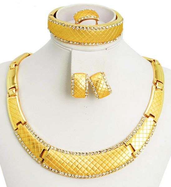 Souq 18k Real Gold Plated Bridal ITALIAN design JEWELRY SET with