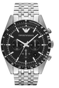 e305741428697 Emporio Armani Men s Black Dial Stainless Steel Band Chronograph Watch -  AR5988