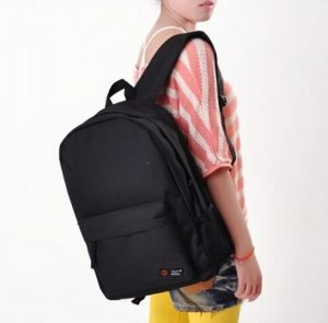 3989a83ddd90  H12149  Black Women Backpack Candy Color Solid School Bag