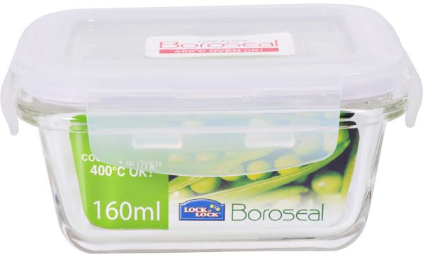Souq Lock Lock Glass Rectangle Container 160 ml LLG414 UAE