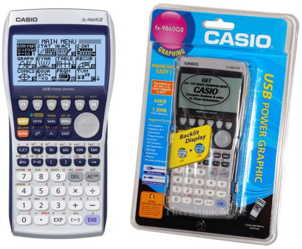 Casio Fx 9860GII Graphing Calculator With Backlit Display
