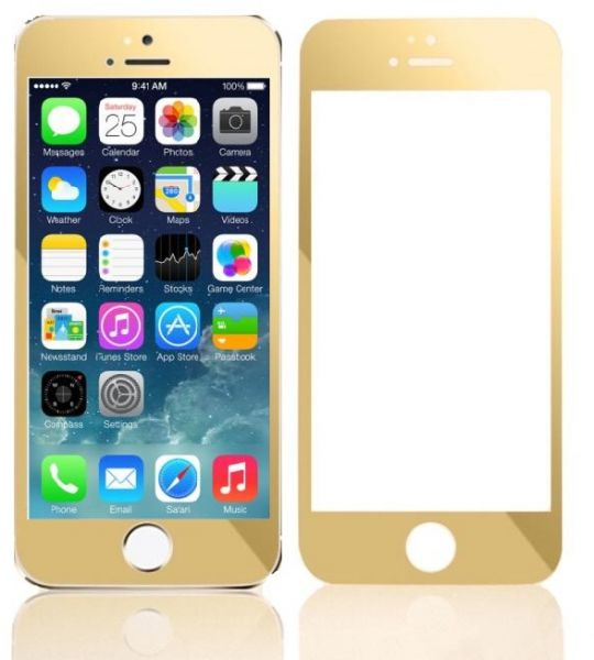 buy popular 43c35 1bf6b Tempered Glass Screen Protector and Colored Anti-Shock Film for iPhone  6/iPhone 6S 4.7 inch / Gold
