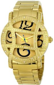afcc04388ac9 JBW Womens Olympia 20 Diamonds Analog 12HR Time Gold-Plated Stainless Steel  Watch  JB-6214-A