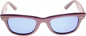 9389adef9a Ray-Ban Unisex Wayfarer Cosmo Sunglasses- Green   Purple-Blue Mirror Lens-  RB2140-61121750