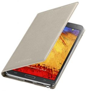 Samsung Wallet Flip Cover Book Case for Samsung Galaxy Note 3 - Oatmeal