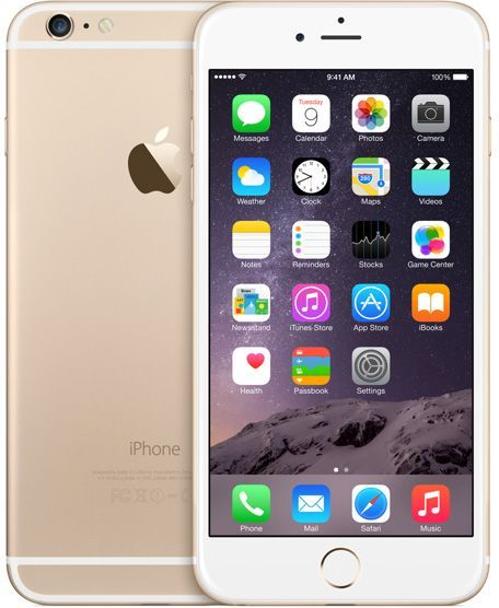 Apple iPhone 6 Plus - 16 GB, 4G LTE, Gold with Free Etisalat 1-month 10 GB  Data Plan