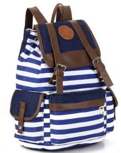 Canvas Backpack Rucksack Unisex Satchel School Bag 628d1b93cb81a