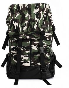 dfb0583d71b Canvas outdoor backpack man Travel bag Camouflage Camping school bag  computer bag Y52 Army Green