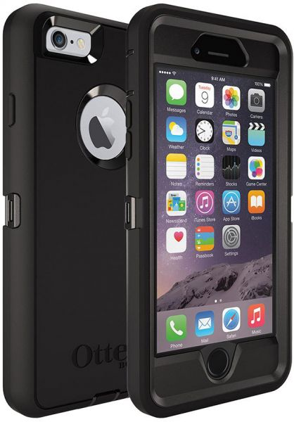 best sneakers f33bf 4bdef OtterBox Defender Mobile Case for iPhone 6, Black [77-50537]