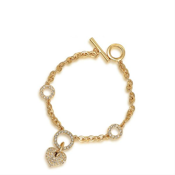 Swish 18k Gold Plated Austrian Crystals Hanging Heart