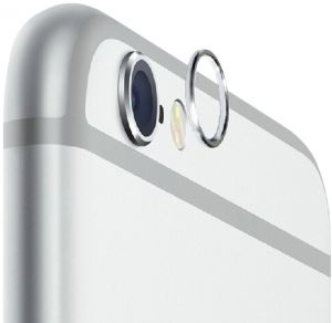 iPhone 6/iPhone 6S - SILVER Lens Protective Case/Cover Ring Installed for iPhone 6/iPhone 6S Camera Lens