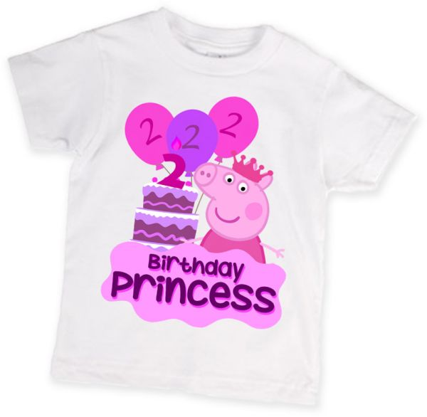 Peppa Pig 2nd Birthday T Shirt