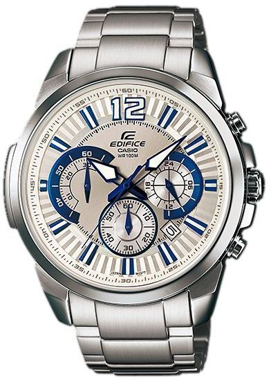 8e47a5db71c5 Casio Edifice Men s White Dial Stainless Steel Band Chronograph Watch  EFR-535D-7A2