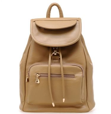 Ladies Backpack School Girl Students wind PU bag.(DNBD KHAKI)  825752366aa79