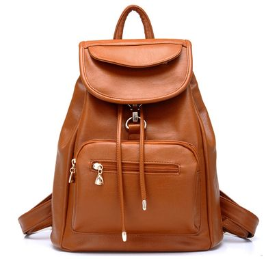 Ladies Backpack School Girl Students wind PU bag.(DNBD BROWN)  032ffa4645e8c