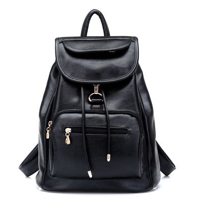 Ladies Backpack School Girl Students wind PU bag.(DNBD BLACK)  264d4957e4079