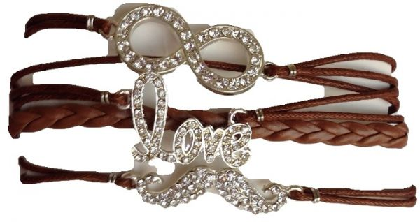 lyst jewelry white bracelet remix collection swarovski infinity symbol in