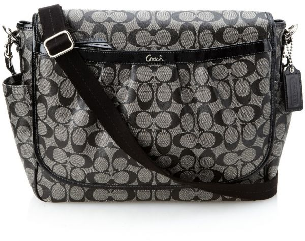 9eec2642feb5 COACH MESSENGER DIAPER BAG LEATHER BLACK