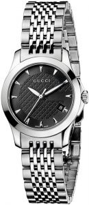 3d2bf84aff4dc Gucci G-Timeless Women Black Dial Stainless Steel Band Watch - YA126502