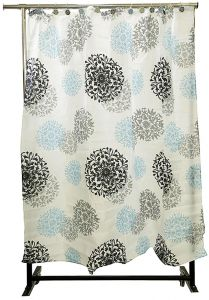 Home Shower Sphinx Curtain With Hooks White SW0669