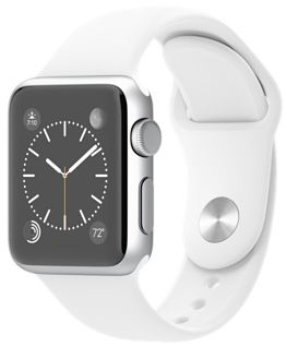 Apple Watch 1st Generation - 42mm Silver Aluminum Case with White Sport Band, MJ3N2